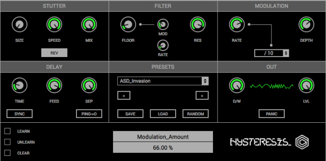 glitchmachines hysteresis free glitch delay plugin
